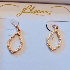 BNWOT JBloom Gold Teardrop Dangle Earrings